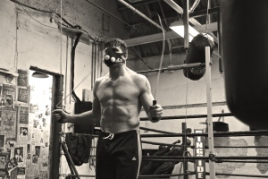 Boston based professional middleweight, DeLuca utilizes an oxygen deprivation mask to improve performance.